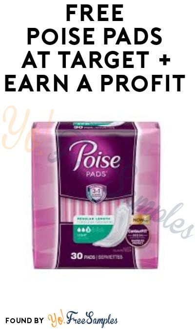 FREE Poise Pads at Target + Earn A Profit (Fetch Rewards & Coupon Required)
