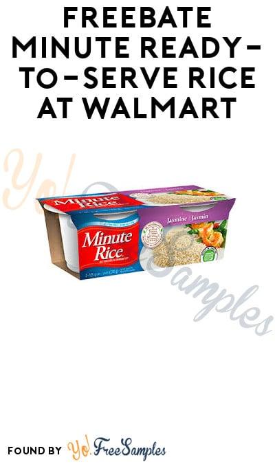 FREEBATE Minute Ready-To-Serve Rice at Walmart