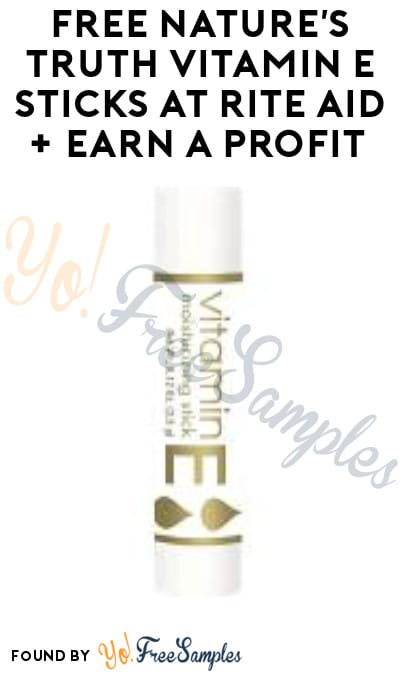 FREE Nature's Truth Vitamin E Sticks at Rite Aid + Earn A Profit (Wellness+ & Ibotta Required)
