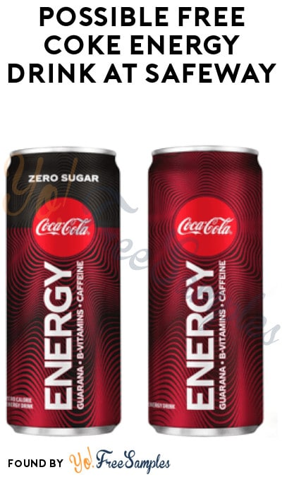 Possible FREE Coke Energy Drink at Safeway (Just for U Required)