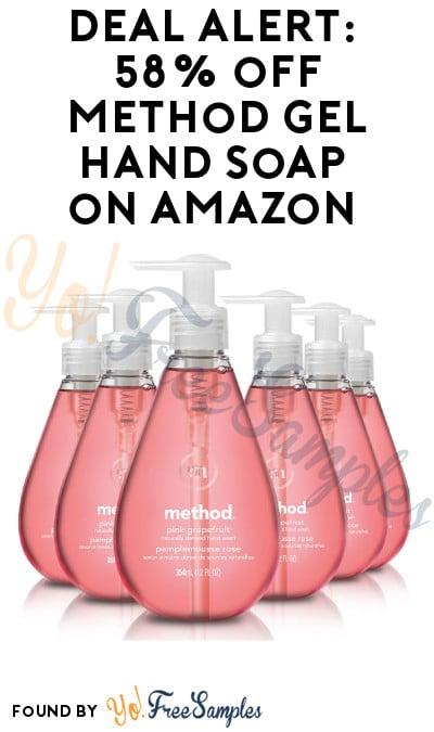 DEAL ALERT: Save 58% on Method Gel Hand Soap on Amazon