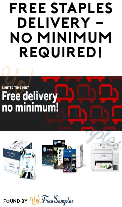 DEAL ALERT: FREE Staples Shipping Online – No minimum Required!