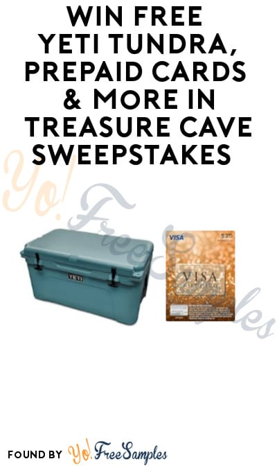 Enter Daily: Win FREE Yeti Tundra, Prepaid Cards & More in Treasure Cave Sweepstakes