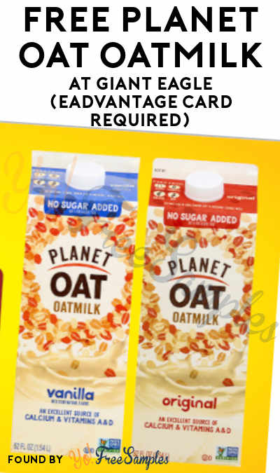 FREE Planet Oat Oatmilk At Giant Eagle (eAdvantage Card Required)
