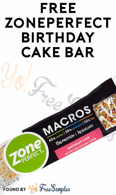 FREE ZonePerfect Birthday Cake Bar