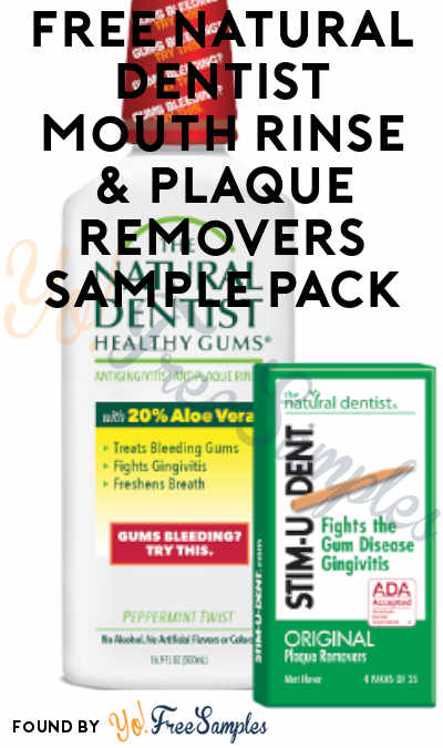 FREE Natural Dentist Mouth Rinse & Plaque Removers Sample Pack (Email Required)