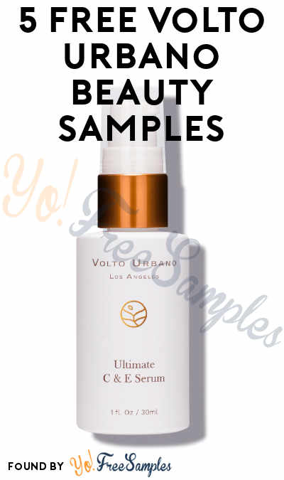 Re-Confirm Required! 5 FREE Volto Urbano Beauty Samples
