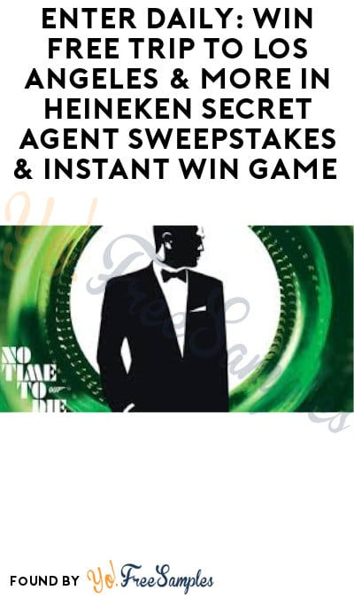 Enter Daily: Win FREE Trip to Los Angeles & More in Heineken Secret Agent Sweepstakes & Instant Win Game (Ages 21 & Older Only)