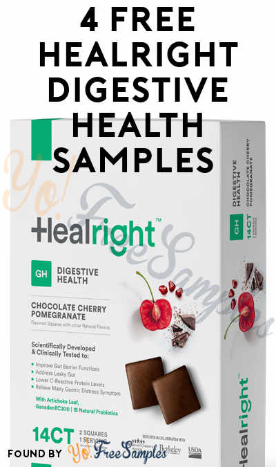 4 FREE Healright Digestive Health Samples