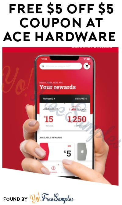 FREE $5 off $5 Coupon at Ace Hardware (App + New Rewards Account Required)