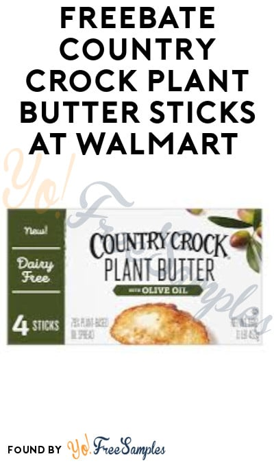 FREEBATE Country Crock Plant Butter Sticks at Walmart (Ibotta Required)