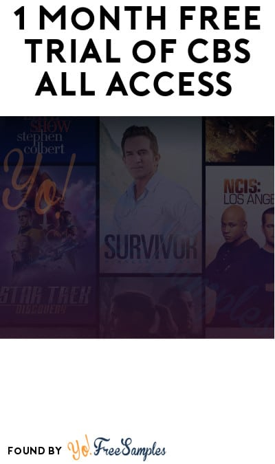 1 Month FREE Trial of CBS All Access (Credit Card Required)
