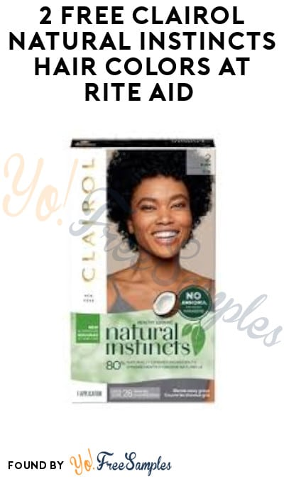 2 FREE Clairol Natural Instincts Hair Colors at Rite Aid (Clearance + Coupon Required)