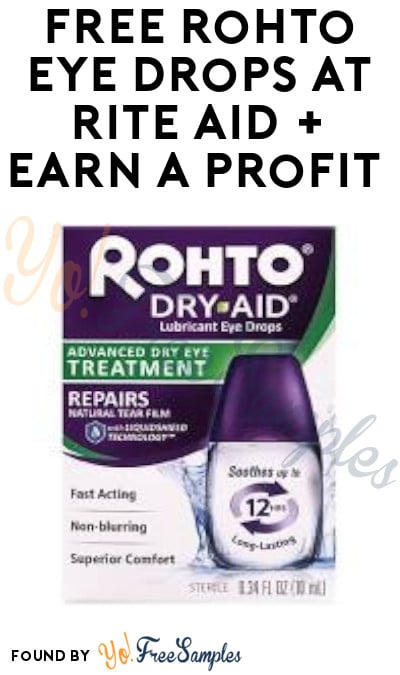 FREE Rohto Eye Drops at Rite Aid + Earn A Profit (Clearance & Ibotta Required)