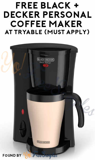 FREE Black + Decker Personal Coffee Maker At Tryable (Must Apply)