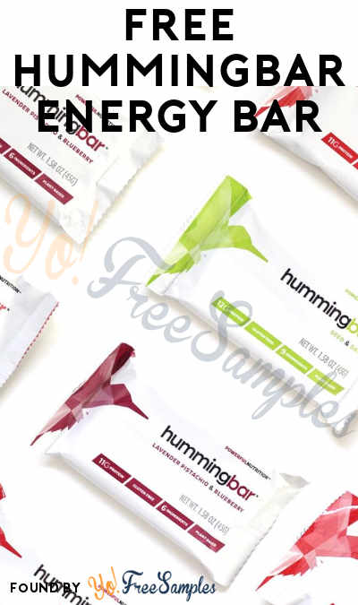 FREE Hummingbar Energy Bar (Facebook Message Required) [Verified Received By Mail]