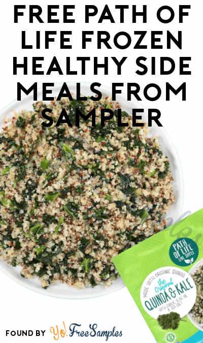 FREE Path of Life Frozen Healthy Side Meals From Sampler