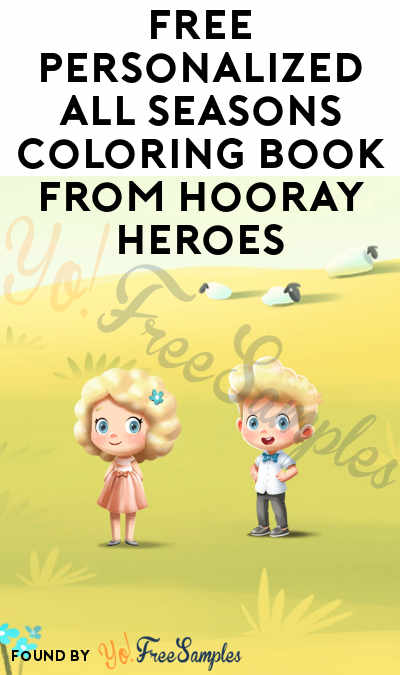 FREE Personalized All Seasons Coloring Book from Hooray Heroes