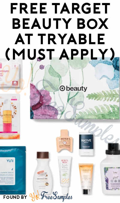 FREE Target Beauty Box At Tryable (Must Apply)
