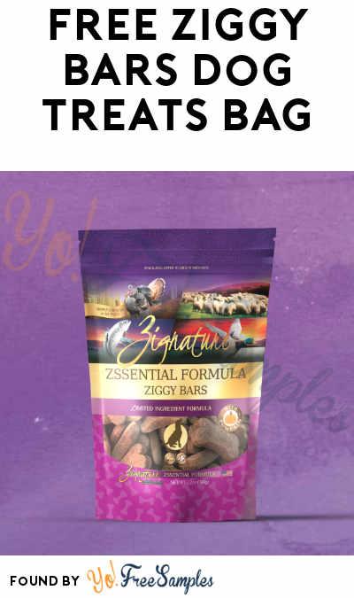 FREE Zignature Ziggy Bar Dog Treats Bag