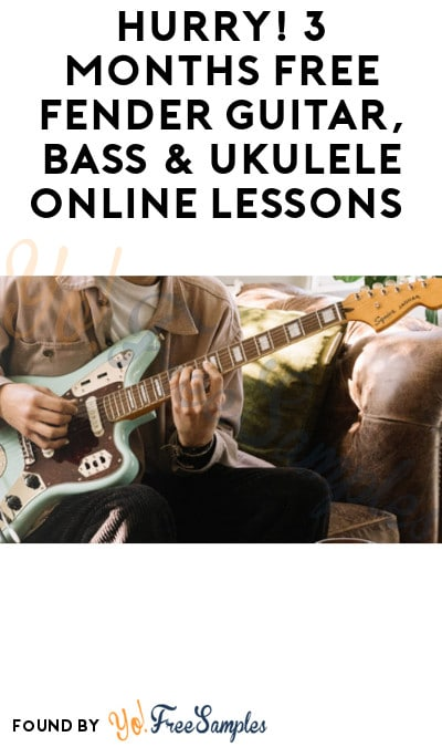 3 Months FREE Fender Guitar, Bass & Ukulele Online Lessons (Sign Up Required)