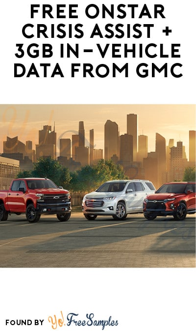 FREE OnStar Crisis Assist + 3GB In-Vehicle Data from GMC