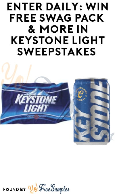 Enter Daily: Win FREE Swag Pack & More in Keystone Light Sweepstakes (Ages 21 & Older Only)