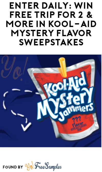 Enter Daily: Win FREE Trip for 2 & More in Kool-Aid Mystery Flavor Sweepstakes