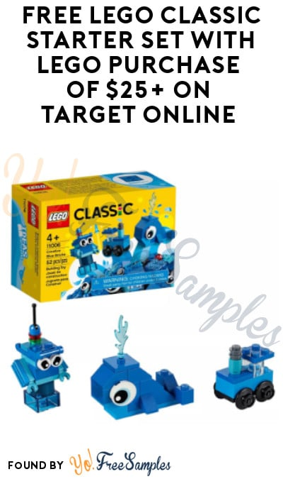 FREE LEGO Classic Starter Set with LEGO Purchase of $25+ on Target Online