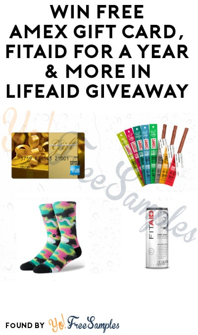 Win FREE AMEX Gift Card, Fitaid for a Year & More in Lifeaid Giveaway