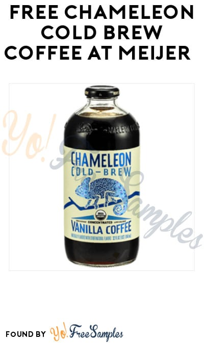 FREE Chameleon Cold Brew Coffee at Meijer (MPerks App Required)