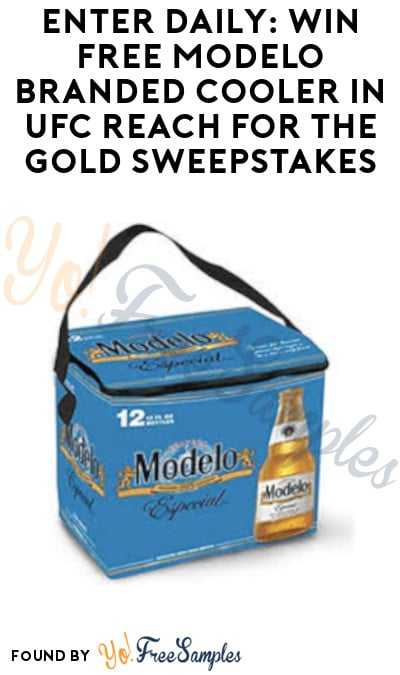Enter Daily: Win FREE Modelo Branded Cooler in UFC Reach For The Gold Sweepstakes (Mail-In or Text + Ages 21 & Older Only)