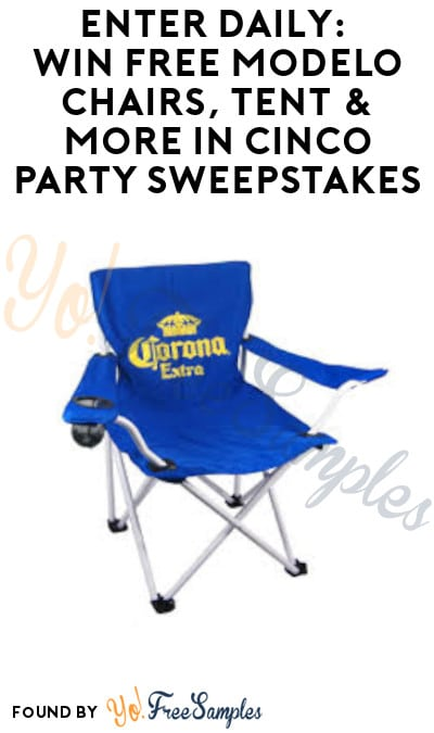 Enter Daily: Win FREE Modelo Chairs, Tent & More in Cinco Party Sweepstakes (Mail-In or Text + Ages 21 & Older Only)