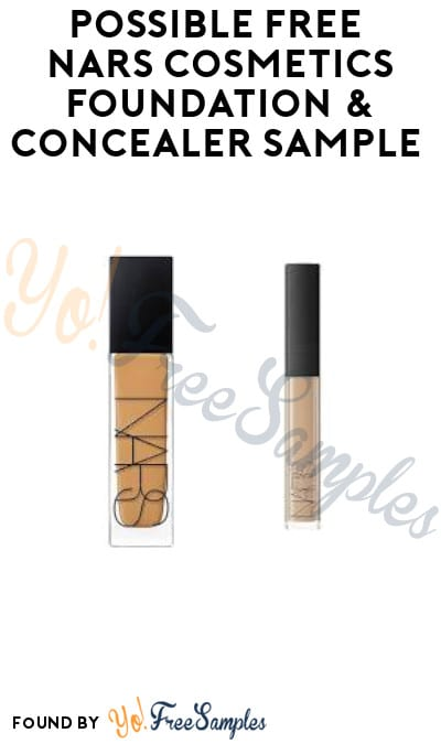 Possible FREE NARS Cosmetics Foundation & Concealer Sample (Facebook Required)