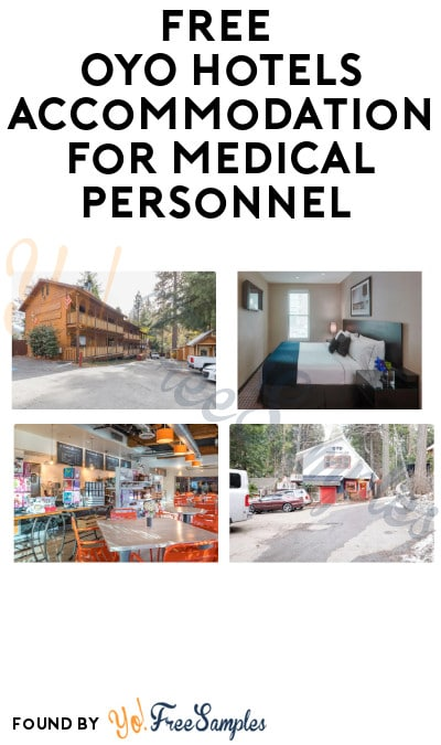 FREE OYO Hotels Accommodation for Medical Personnel (ID Required)