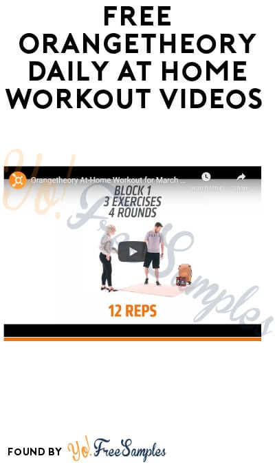 FREE Orangetheory Daily At Home Workout Videos