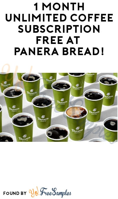 1 Month Unlimited Coffee Subscription FREE at Panera Bread! (Credit Card + Coupon Required)