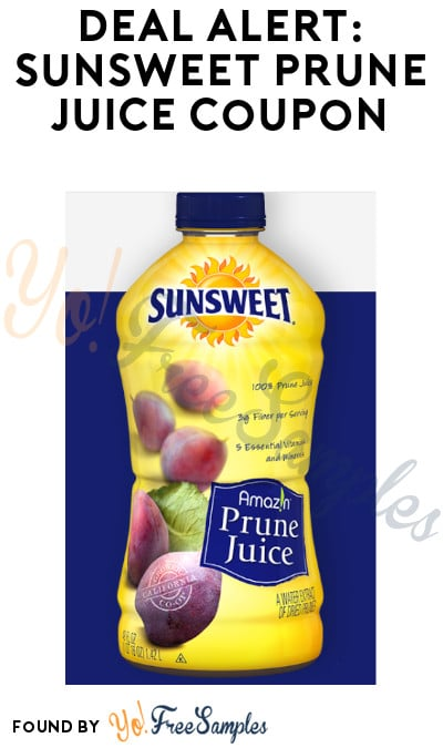 DEAL ALERT: Sunsweet Prune Juice Coupon (Signup Required)
