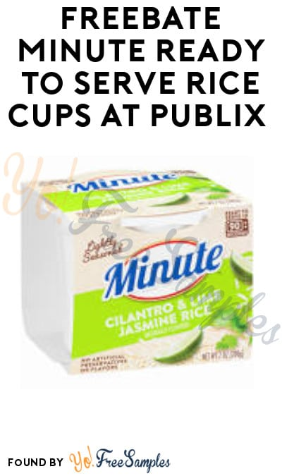 FREEBATE Minute Ready-To-Serve Rice Cups at Publix (Ibotta Required)