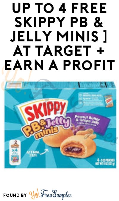 Up to 4 FREE Skippy PB & Jelly Minis at Target + Earn A Profit (Target Circle, Ibotta & Coupon Required)