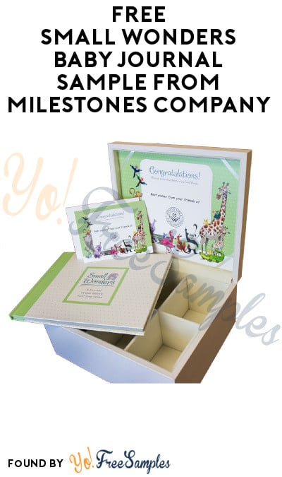 FREE Small Wonders Baby Journal Sample from Milestones Company (Company Name Required)