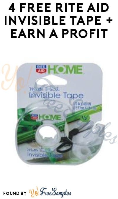 4 FREE Rite Aid Invisible Tape + Earn A Profit (Wellness+ Required)