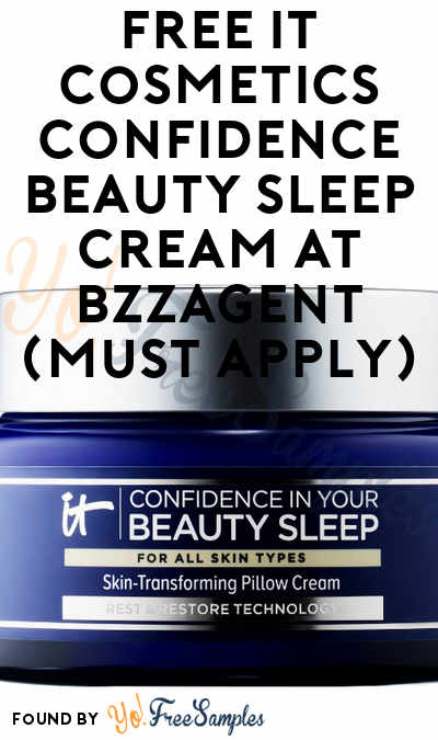 FREE IT Cosmetics Confidence in Your Beauty Sleep Skin-Transforming Pillow Cream At BzzAgent (Must Apply)