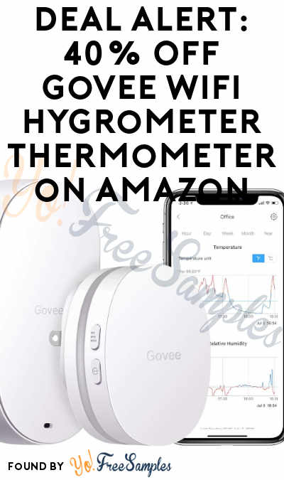 DEAL ALERT: 40% Off Govee WiFi Hygrometer Thermometer on Amazon