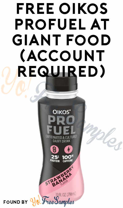 FREE Oikos Profuel At Giant Food (Account Required)