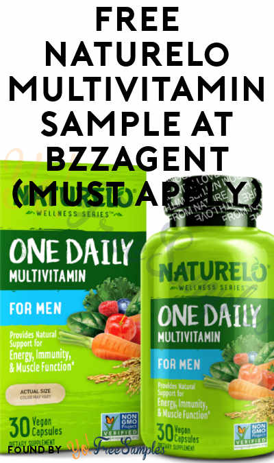 FREE Naturelo Multivitamin Sample At BzzAgent (Must Apply)