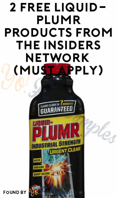 2 FREE Liquid-Plumr Products From The Insiders Network (Must Apply)