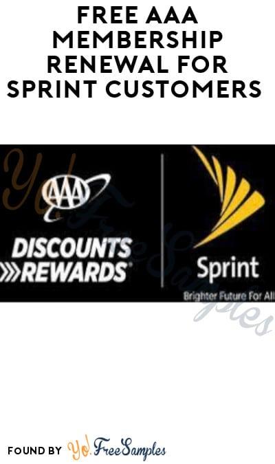 FREE AAA Membership Renewal for Sprint Customers
