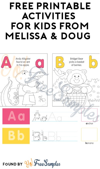 FREE Printable Activities for Kids from Melissa & Doug