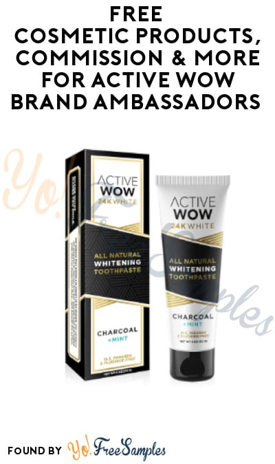FREE Cosmetic Products, Commission & More for Active Wow Brand Ambassadors (Instagram Required)